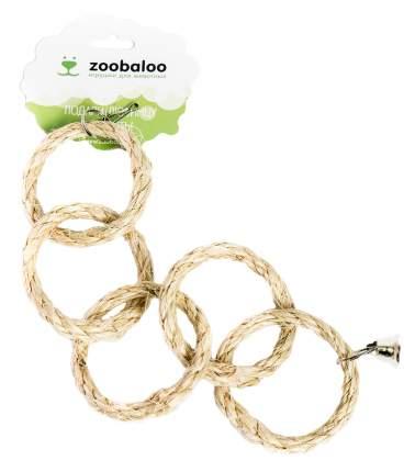 Игрушка для птиц Zoobaloo Пять кольц, сизаль, 30 х 10 см