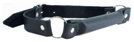 Кляп-трензель BDSM Арсенал кожаный на кольцах черный