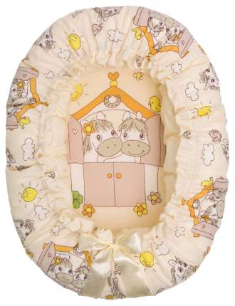 Подушка-валик Золотой Гусь гнездо Лошадка бежевый 8203