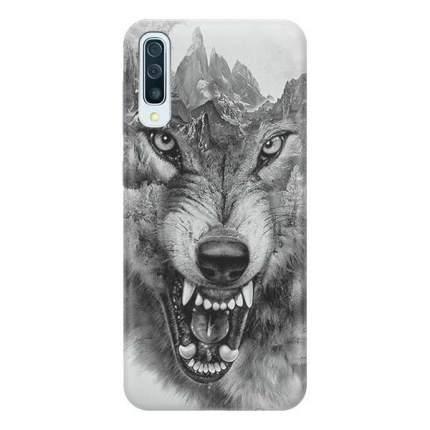 Чехол Gosso Cases для Samsung Galaxy A50 «Волк в горах»