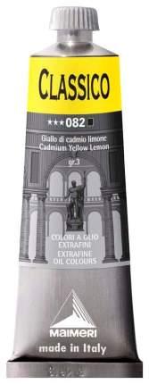 Масляная краска Maimeri Classico кадмий желтый лимонный 60 мл