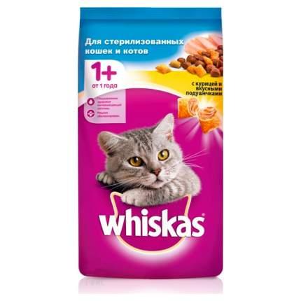Сухой корм для кошек Whiskas, подушечки с паштетом, с лососем, 4шт по 1,9кг