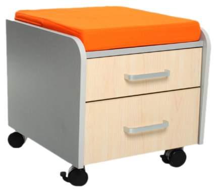 Тумбочка Comf-Pro BD-C2 (цвет обивки: оранжевый, цвет каркаса: серый, цвет товара: клен)