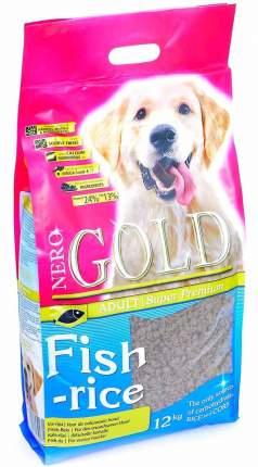 Сухой корм для собак NERO GOLD Adult, все породы, рыбный коктейль, рис и овощи, 12кг