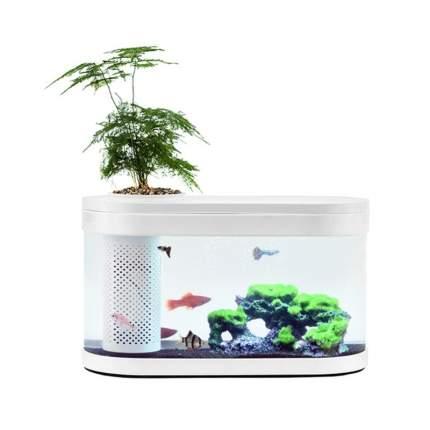 Аквариум Xiaomi Geometry Fish Tank Aquaponics Ecosystem, с изогнутым стеклом, 5 л