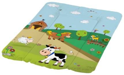 Матрас для пеленания ОКТ Весёлая Ферма зелёный 50х70