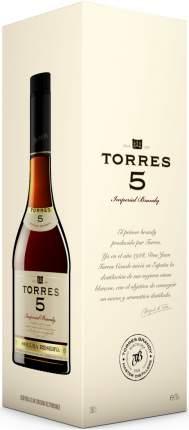 Бренди Torres 5 Solera Reserva gift box 0.7 л