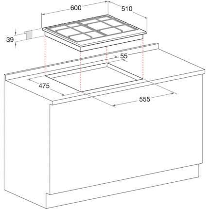 Встраиваемая варочная панель газовая Hotpoint-Ariston 7HPC 640T (AN) R/HA Black