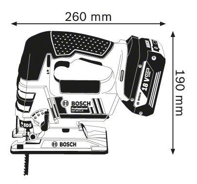 Аккумуляторный лобзик Bosch GST 18 V-LI B 06015A6102