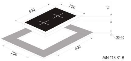 Встраиваемая варочная панель газовая Zigmund & Shtain MN 115.31 Black