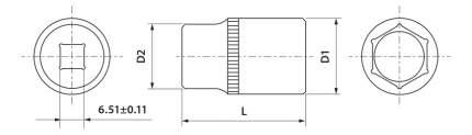 Торцевая головка THORVIK FS01412
