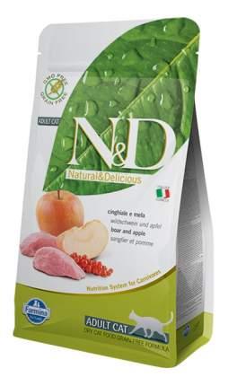Сухой корм для кошек Farmina N&D, кабан с яблоком, 5кг