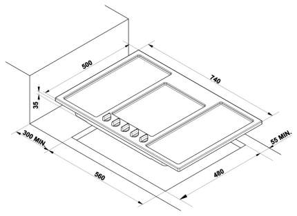 Встраиваемая варочная панель газовая Korting HG 795 CTX Silver
