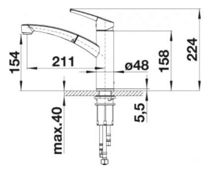 Смеситель для кухонной мойки Blanco NEA-S 520296 хром