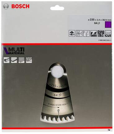 Диск по дереву Bosch STD MM 235x30-64T 2608640514