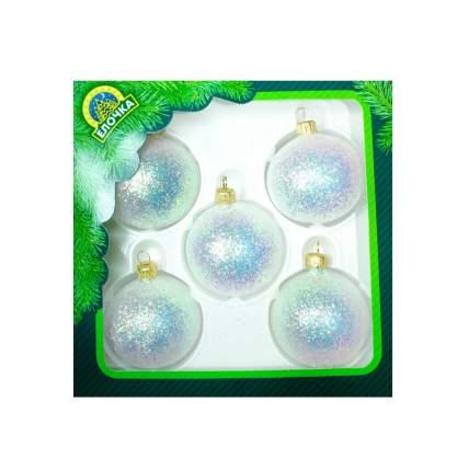 Набор шаров на ель Елочка Мерцание С122 6,2 см 5 шт.