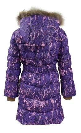 Пальто Huppa Yasmine лилoвоес принтом р.116