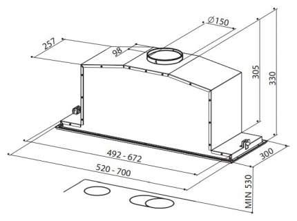 Вытяжка встраиваемая FABER Inca Lux Glass EG8 X/WH A52 White/Silver