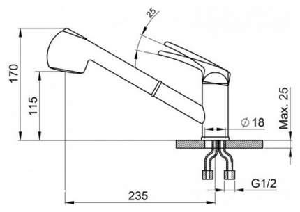 Смеситель для кухонной мойки Granula GR-2025 антик