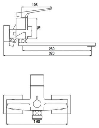 Смеситель для ванны SmartSant SM253512AA