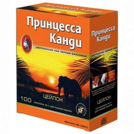 Чай Принцесса Канди черный 100 пакетиков