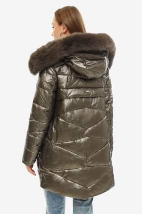 Пуховик женский Alyaska 19163 коричневый 42 RU