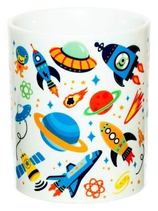 Керамическая кружка 3Dollara Белый детский космос. MUG0283