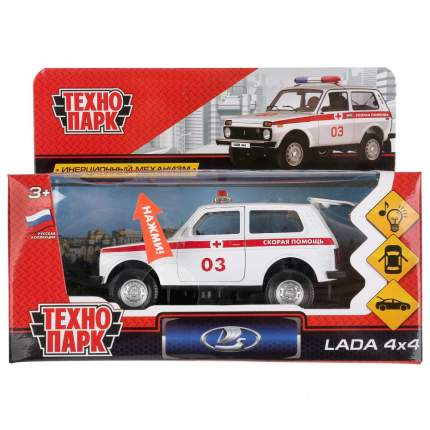 Машинка Технопарк LADA 4*4 Скорая 12см