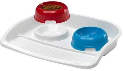 Набор мисок для кошек и собак Ferplast, пластик, в ассортименте 2 шт по 0.3 л