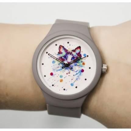 """Часы наручные """"Кошечка"""", цвет: серый"""