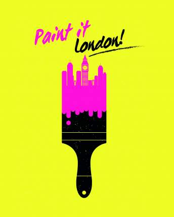 Постер Лондон в краске 40х50 в тубусе