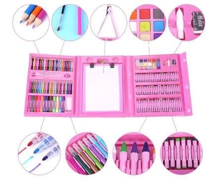 Набор для рисования и творчества Creative 208 предметов, розовый