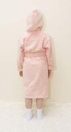 Халат Осьминожка с капюшоном махровый детский персик 116 размер