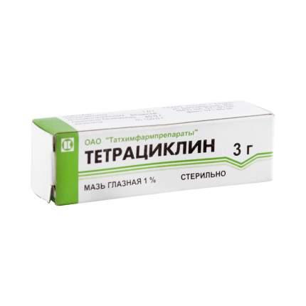 Тетрациклин мазь 1 % 3 г