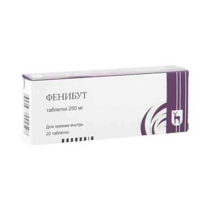 Фенибут таблетки 250 мг 20 шт. Olainfarm