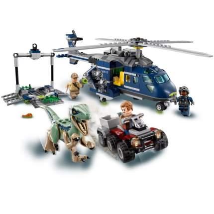 Конструктор пластиковый BELA 10925 Погоня за Блю на вертолёте