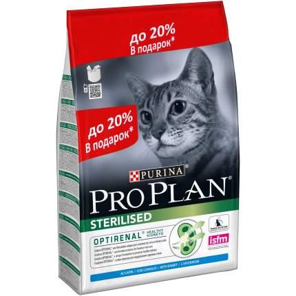 Сухой корм для кошек PRO PLAN Sterilised, для стерилизованных, кролик, 3кг