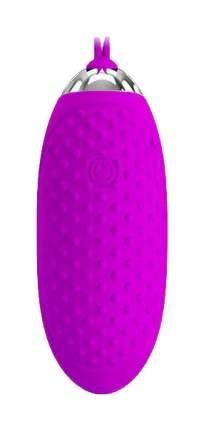 Лиловое пупырчатое виброяйцо Joanne с пультом ДУ