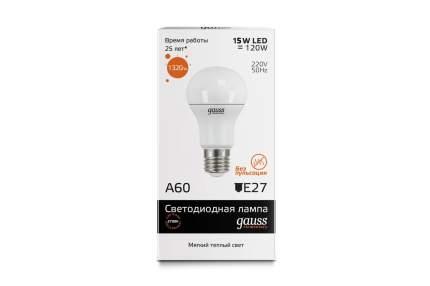 Лампочка Gauss LED A60 15 Вт Светодиодная