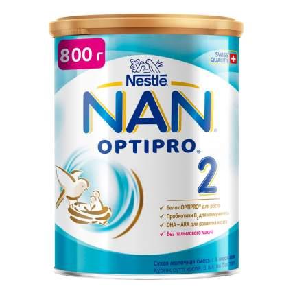 Молочная смесь NAN Optipro 2 от 6 до 12 мес. 800 г