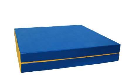 """Мат № 10 (100 х 150 х 10) складной 1 сложение """"PERFETTO SPORT"""" сине/жёлтый"""