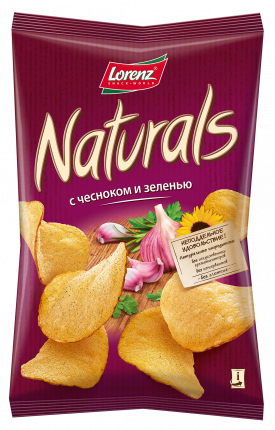 Картофельные чипсы Lorenz naturals с чесноком и зеленью 100 г