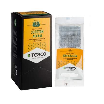 """TeaCo Пакетированный черный чай на чайник """"Золотой ассам"""" TEACO, 20 пак. по 4 г"""