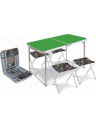 Туристический стол со стульями Nika ССТ-К2/6 с дубовыми листьями
