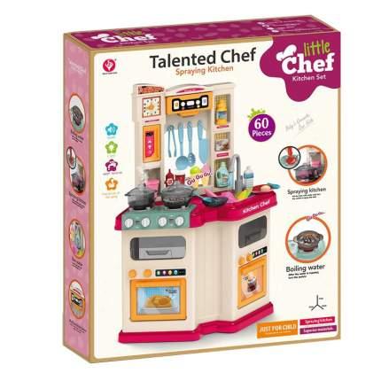 Кухня угловая с водой Kitchen TALENTED CHEF 60 деталей, звук, свет, вода, гранатовая