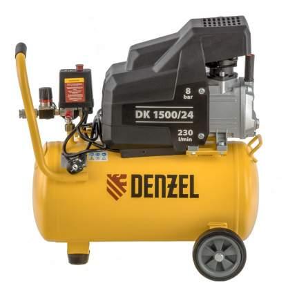 Поршневой компрессор DK1500/24, Х-PRO 1,5 кВт, 230 л/мин, 24 л Denzel