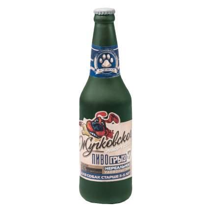 Апорт для собак Triol Бутылка - Жучковское из винила, зеленая, 24 см