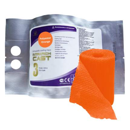 Полимерный бинт жесткой фиксации INTRARICH CAST 7,5 см х 3,6 м оранжевый