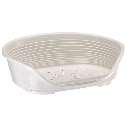 Лежак для животных Ferplast SIESTA DELUXE 10, пластиковый, белый, 93,5х68х28,5 см