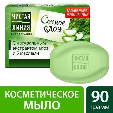 Косметическое мыло Чистая Линия Алоэ 90 г